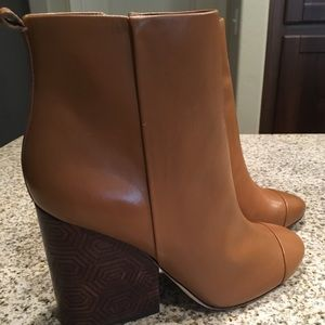 Tory Burch Grove Mosaic Heel Ankle Booties Boots